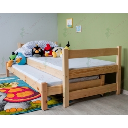 Łóżko sosnowe dwupoziomowe