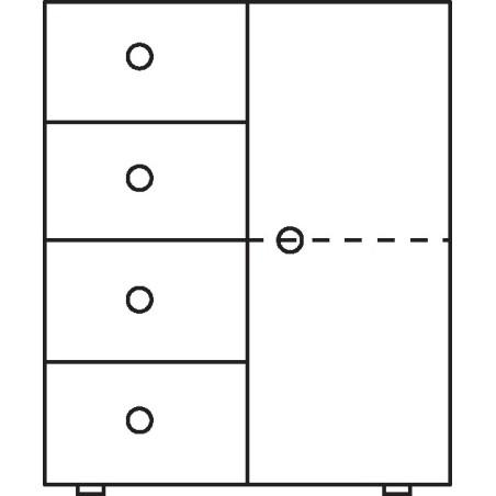 Komoda pojemna K03P 84x101x46 cm