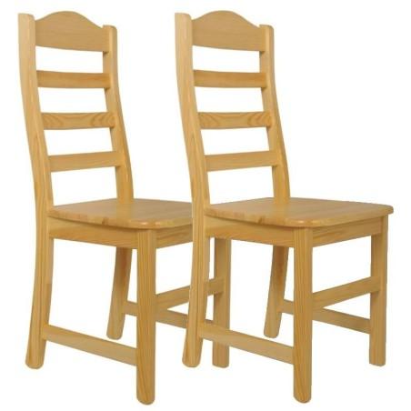Krzesło sosnowe DURAN - komplet