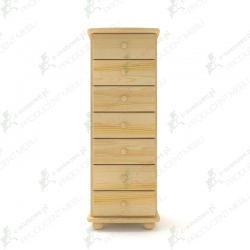 Komoda sosnowa K36 45x124x42 cm