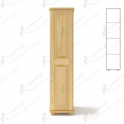Szafa sosnowa pojedyncza S1P 45x190x60 cm