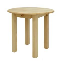 Stół sosnowy okrągły z szufladą