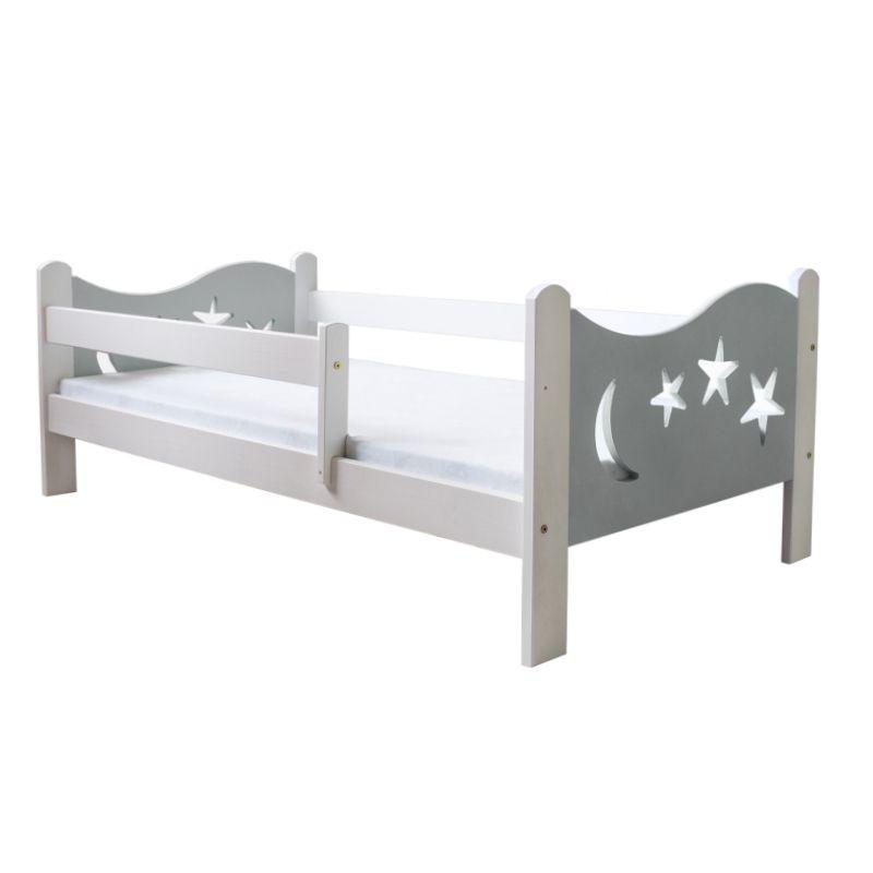 Łóżko dziecięce Gwiazdka szare