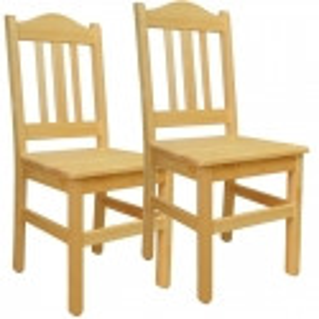 Krzesło sosnowe BURON - komplet
