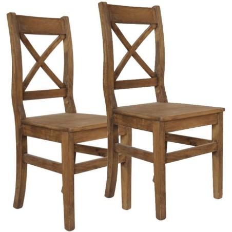 Krzesło sosnowe RETRO -komplet