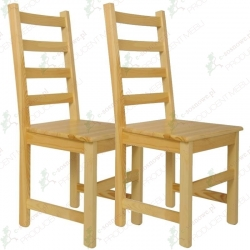 Krzesło sosnowe KABER - komplet