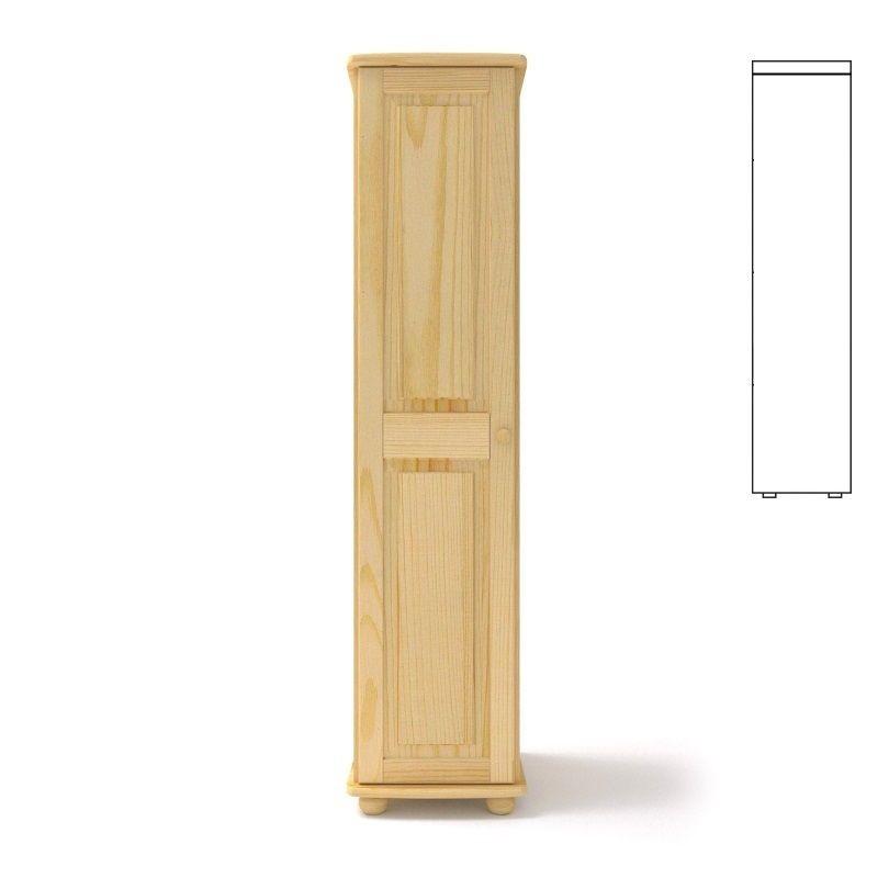 Szafa sosnowa pojedyncza S1 45x190x60 cm