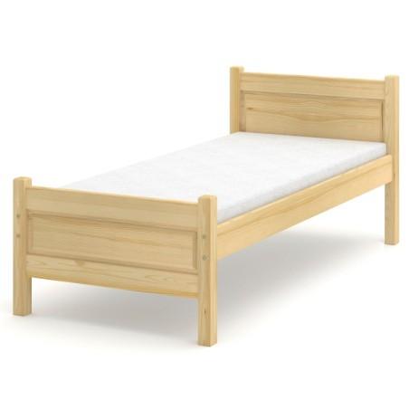 Łóżko sosnowe Beta Plus (wysokość +10 cm)