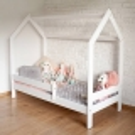 Łóżko dziecięce Domek białe