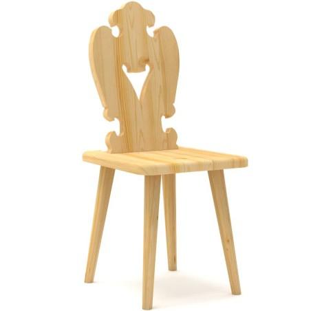 Krzesło sosnowe SERCE