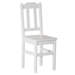 Krzesło sosnowe PUNO białe