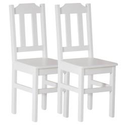 Krzesło sosnowe PUNO białe - komplet