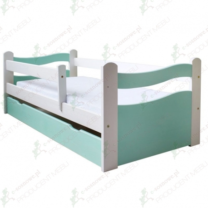 Łóżko dziecięce Fala kolory